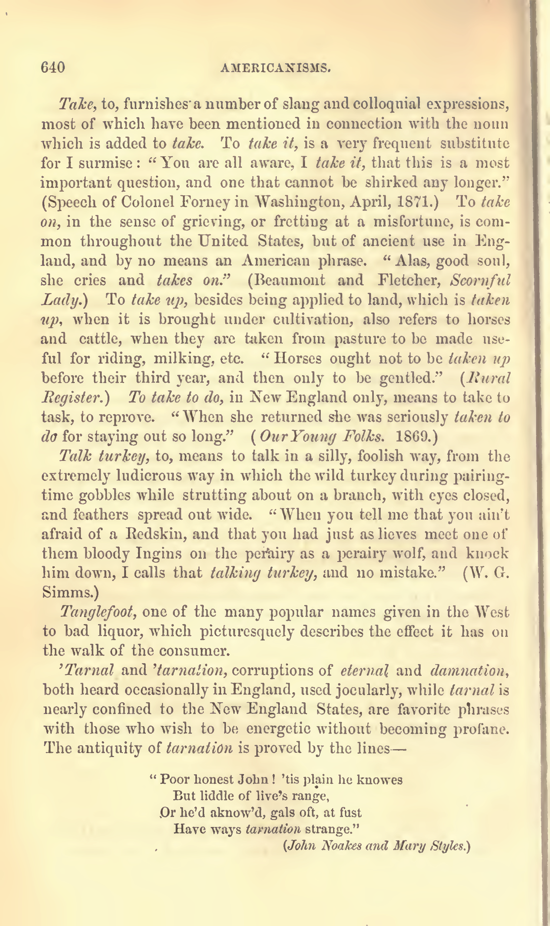 Page640 Americanisms the English of the New world by Maximilian Schele de Vere 1872